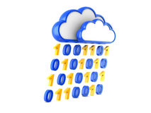Information cloud Internet and information stream. Cloud Internet and information stream. 3d illustration Royalty Free Stock Photos