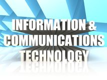 Information and Communications Technology. Image with hi-res rendered artwork that could be used for any graphic design Stock Photography