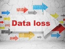 Information concept: arrow with Data Loss on grunge wall background Stock Photo