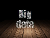 Information concept: Big Data in grunge dark room Stock Photos