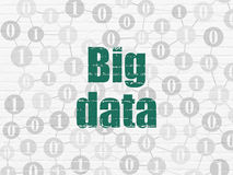 Information concept: Big Data on wall background Royalty Free Stock Image