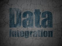 Information concept: Data Integration on grunge wall background Stock Images
