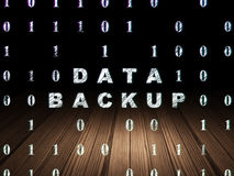 Information concept: Data Backup in grunge dark Royalty Free Stock Images