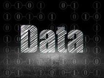 Information concept: Data in grunge dark room Royalty Free Stock Photos