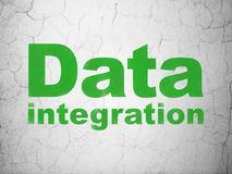 Information concept: Data Integration on wall background Royalty Free Stock Photo