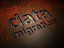 Information concept: Data Migration on digital stock illustration