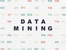 Information concept: Data Mining on wall Royalty Free Stock Photography