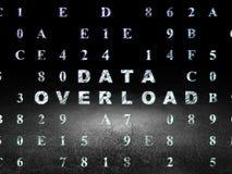 Information concept: Data Overload in grunge dark Stock Photo