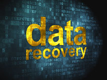 Information concept: Data Recovery on digital. Information concept: pixelated words Data Recovery on digital background, 3d render Stock Image