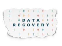 Information concept: Data Recovery on Torn Paper Royalty Free Stock Image