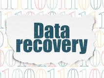 Information concept: Data Recovery on Torn Paper Royalty Free Stock Photography