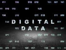 Information concept: Digital Data in grunge dark Stock Images