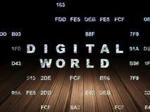 Information concept: Digital World in grunge dark Stock Photo