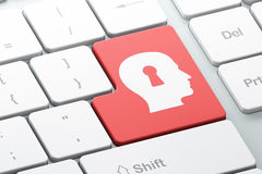 Information concept: Head Whis Keyhole on computer keyboard back Stock Photo