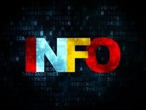 Information concept: Info on Digital background Stock Images