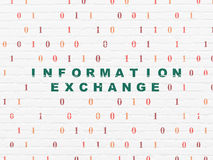 Information concept: Information Exchange on wall Royalty Free Stock Image