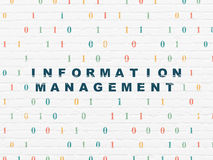 Information concept: Information Management on Royalty Free Stock Images