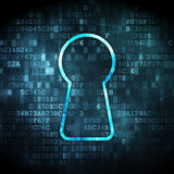 Information concept: Keyhole on digital background Royalty Free Stock Photos