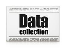 Information concept: newspaper headline Data Collection Royalty Free Stock Photography