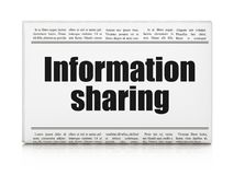 Information concept: newspaper headline Information Sharing. On White background, 3D rendering Stock Photography