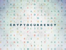 Information concept: Cryptocurrency on Digital Data Paper background Royalty Free Stock Photography