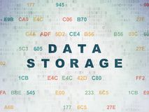 Information concept: Data Storage on Digital Data Paper background Royalty Free Stock Photo