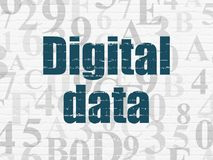 Information concept: Digital Data on wall background Royalty Free Stock Photography