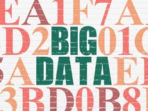 Information concept: Big Data on wall background Royalty Free Stock Photo