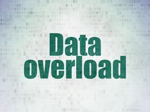 Information concept: Data Overload on Digital Data Paper background. Information concept: Painted green word Data Overload on Digital Data Paper background Stock Photos