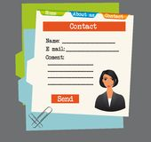 Information contact Royalty Free Stock Image
