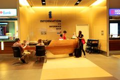 Information counter at Changi Airport Singapore Royalty Free Stock Photos