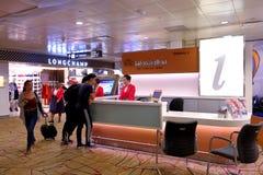 Information counter at Changi Airport Singapore Royalty Free Stock Image