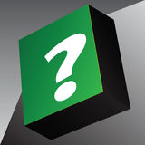 Information cube question symbol Stock Image