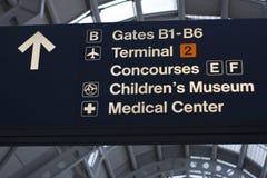 Information d'aéroport Photos stock