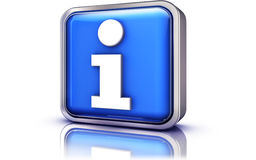 Information. 3D rendering of an information icon Royalty Free Stock Image
