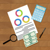 Information data analytics. Financial organization, vector illustration Royalty Free Stock Photography