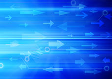 Information Network Data Computer Background. An abstract background with a computer technology network and arrows showing movement of electronic data traffic or Stock Photos