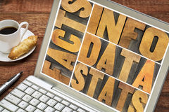 Information, data, facts, stats concept Stock Image