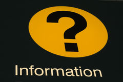 Information de signe d'aéroport Images stock