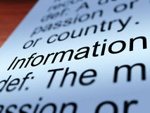 Information Definition Closeup Showing Knowledge Stock Photo