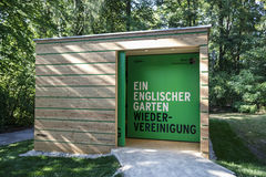Information desk in the English Garden in Munich, Germany Stock Image