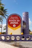 Information desk on famous beach Atalaia in Aracaju, Sergipe, Brazil. ARACAJU, SE/BRAZIL - JUNE 24: Information desk on famous beach Atalaia on June 24, 2016 in Royalty Free Stock Photography