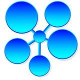 Information-diagram plattform Arkivfoton