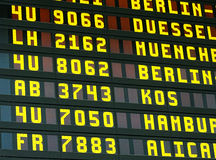 Information display in an airport Royalty Free Stock Images