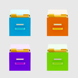 Information and documents: drawers isolated Royalty Free Stock Photography