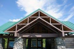An information exhibit at worthington glacier near valdez Stock Image