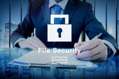 Information File Data Digital Security Protection Concept Royalty Free Stock Photos