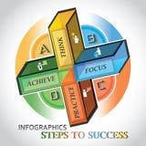 Information-Grafiken auf Erfolg lizenzfreies stockfoto