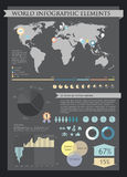 Information graphics elements Stock Images