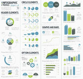 Information graphics to visualize corporate data infographics. Eps10 Royalty Free Stock Photography